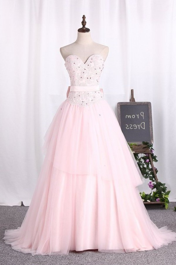 Ball Gown Sweetheart Tulle Quinceanera Dresses P3QA4S2K