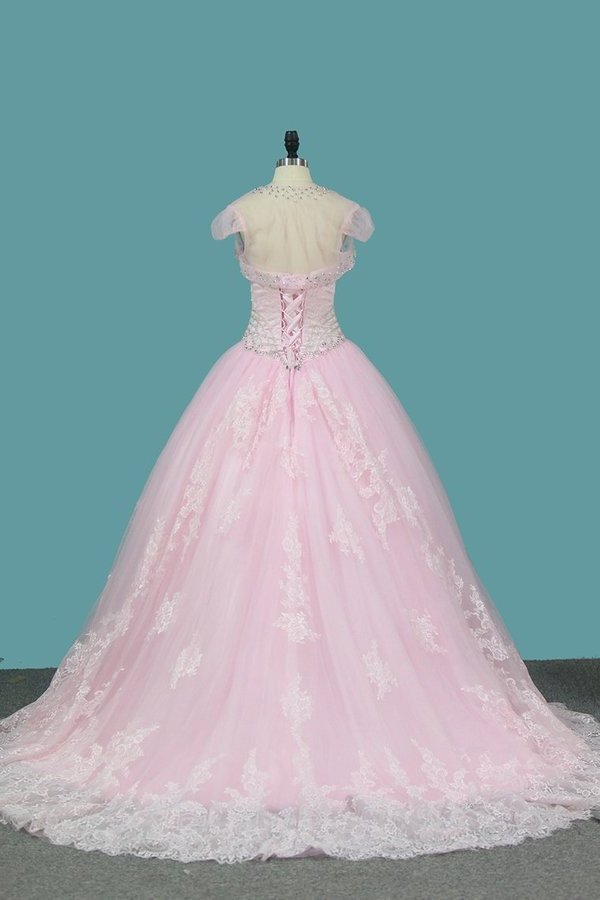 Sweetheart Ball Gown Quinceanera Dresses Applique And PF744NX5