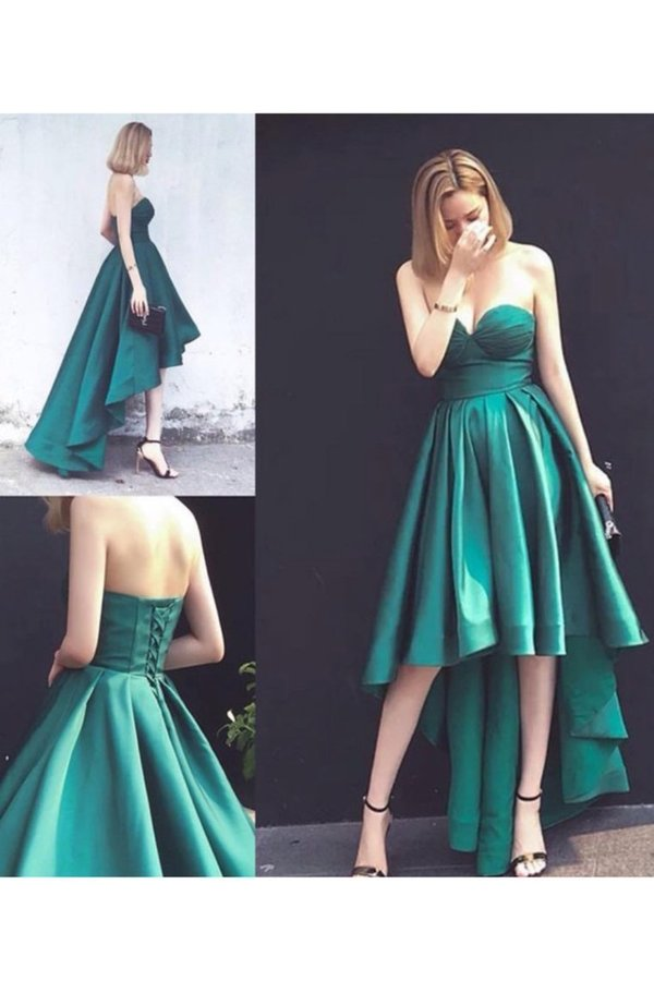2020 Sweetheart A Line Evening Dresses Satin P299LBLY