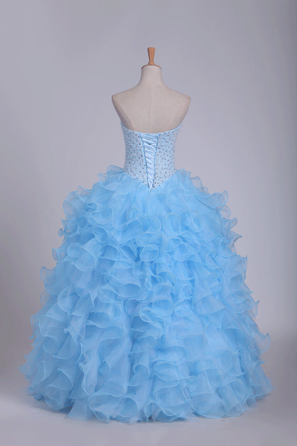 Ball Gown Quinceanera Dresses Sweetheart Beaded Bodice PGYSYEBZ