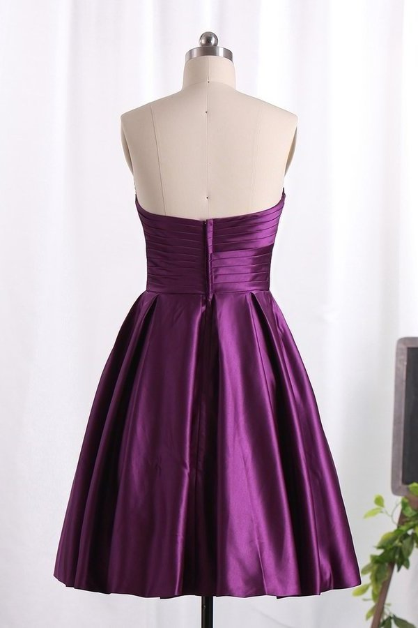 Bridesmaid Dress A Line Sweetheart Satin With P1T3HNDP