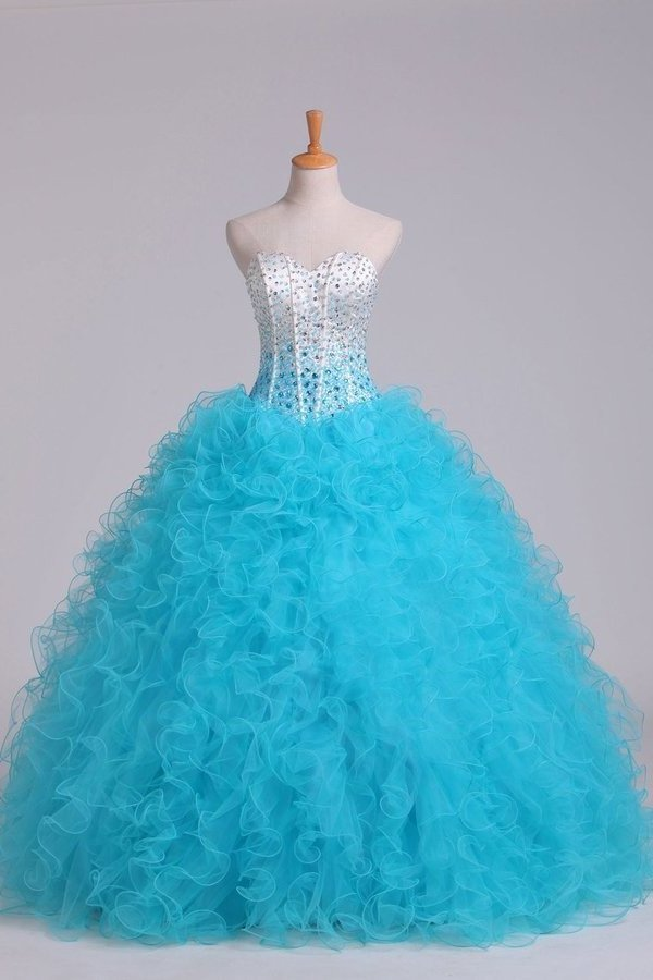 Bicolor Sweetheart Quinceanera Dresses Ball Gown P5AQ43XB