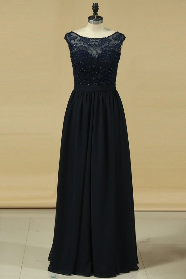 2020 A Line Scoop With Embroidery Bridesmaid P2M67RDD