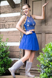 Halter Homecoming Dresses Two-Piece Tulle PQD7NX33