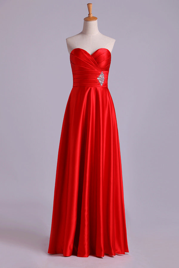 Sweetheart Prom Dresses Matching Pleated Bodice & Waistband Pick Up Long Trumpet Skirt PF4PEH82