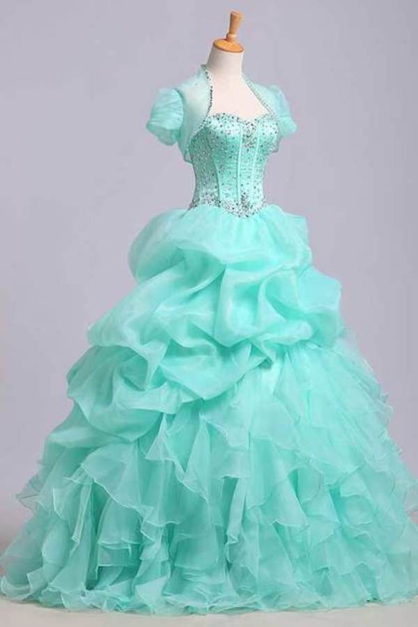 2020 Ball Gown Sweetheart Jewel Beaded Bodice Bubble And Ruffled PZBXX8RG