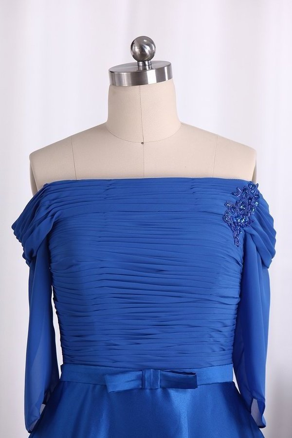 A Line 3/4 Length Sleeve With Sash Mother Of The Bride PRHJCTL1