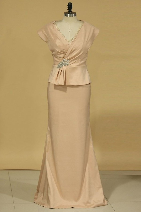 2020 Sheath Mother Of The Bride Dresses V Neck PQH88B92
