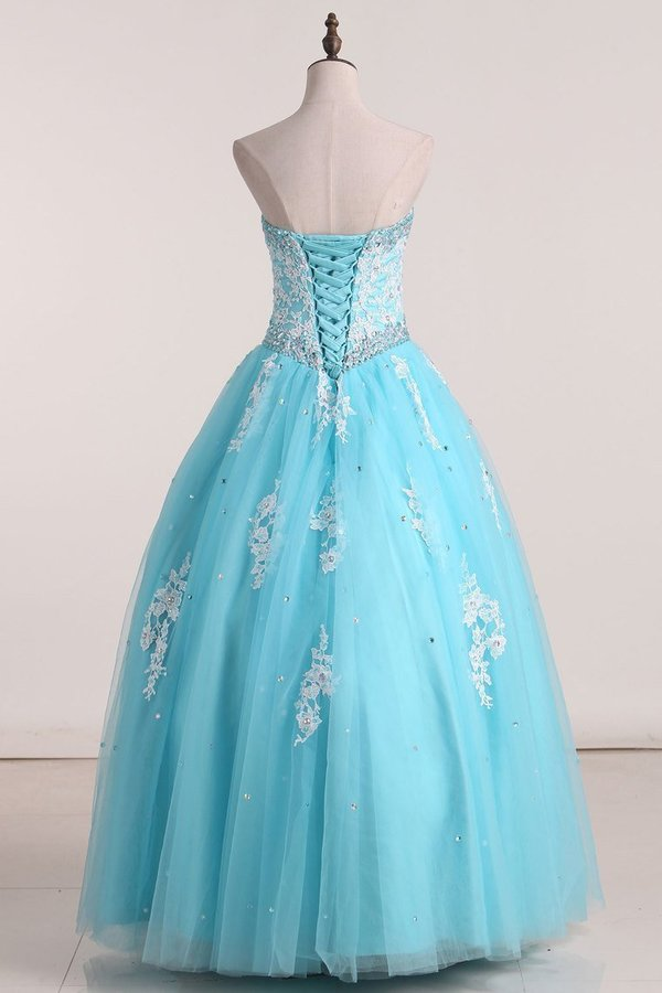 2020 Strapless Quinceanera Dresses With Appliques PQQKQB36