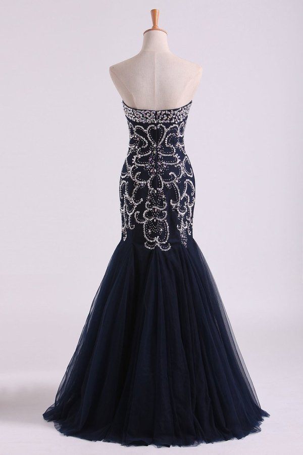 2020 Sweetheart Prom Dresses Mermaid Tulle PGNJRJXZ