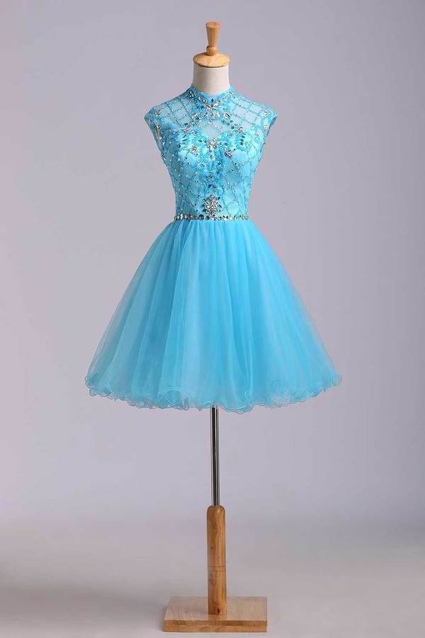 Homecoming Dresses Color Blue Size 0 2 4 6 Ship PGD9C21X