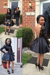 2020 Black Homecoming Dresses A-Line PY5R535T