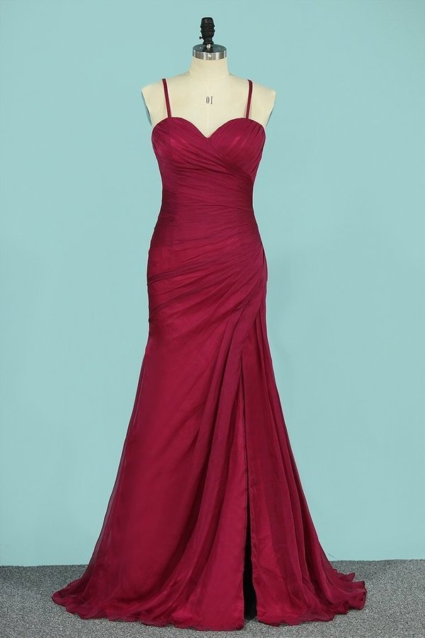 Sweetheart Bridesmaid Dresses Mermaid Chiffon With PPYG9EQB