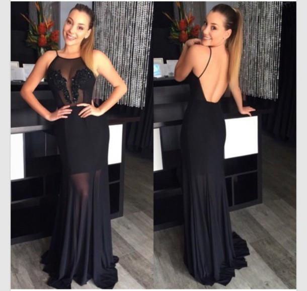 Pd580 High Quality Charming Appliques Prom Dress Chiffon Prom Dress Backless Prom