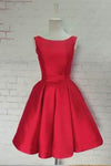 Red Homecoming Dresses Satin Homecoming Dress Party Dress Prom Gown Sweet 16 Dress