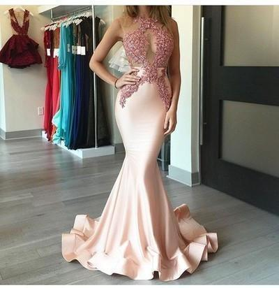 Mermaid Sexy Appliques Long Cheap Evening Dress Formal Women Dress prom dresses