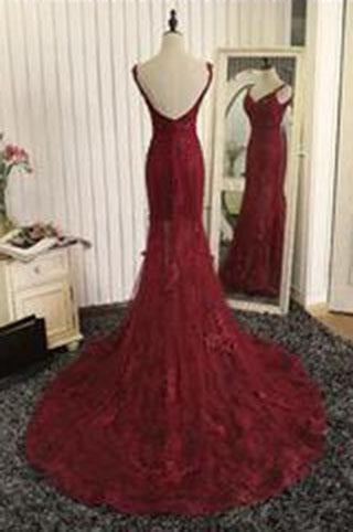Stunning Mermaid Prom Dresses Uk with Lace Appliques