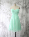 Mint Chiffon Homecoming Dresses Short Bridesmaid