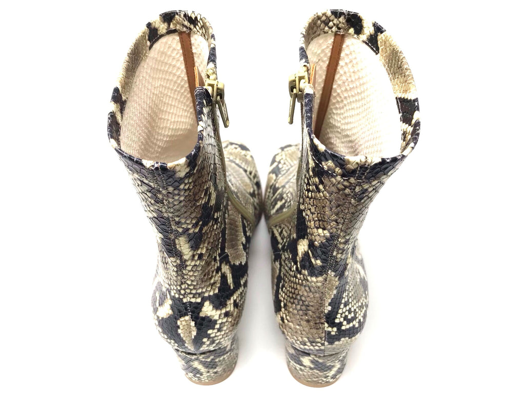 By FAR Sofia Snake Print Booties