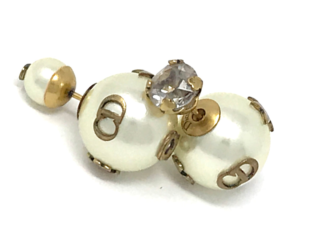 Christian Dior Pearl En Dior Tribal Earrings