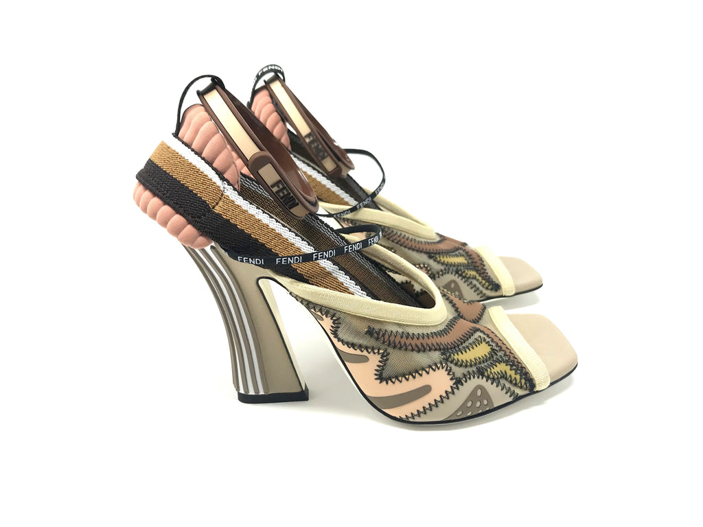 FENDI Ffreedom Strappy Decorated Sandal