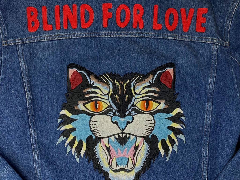 GUCCI Blind For Love Denim Jacket