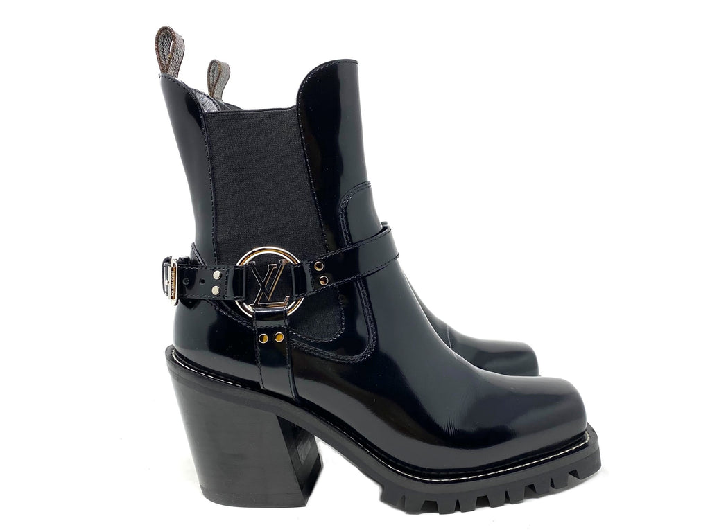 Louis Vuitton Black Leather 'Limitless' Ankle Bootie