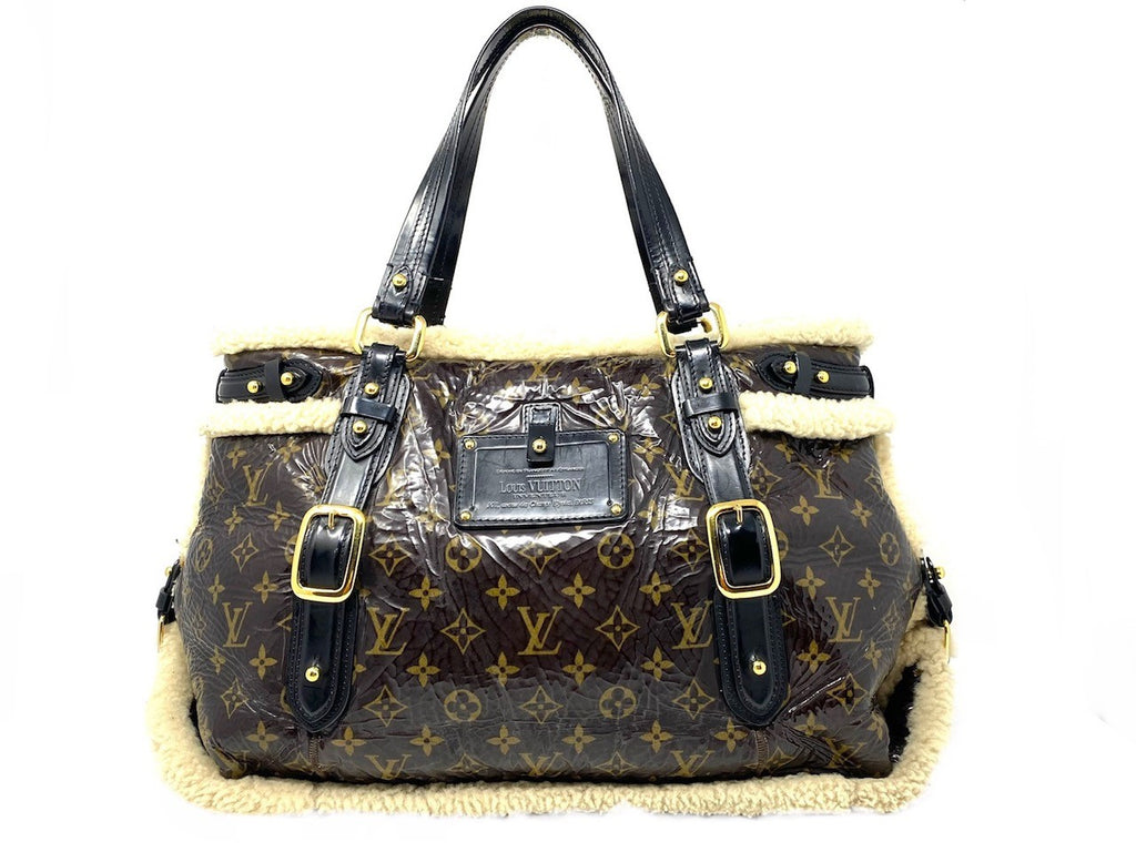 Louis Vuitton Monogram Shearling Tote