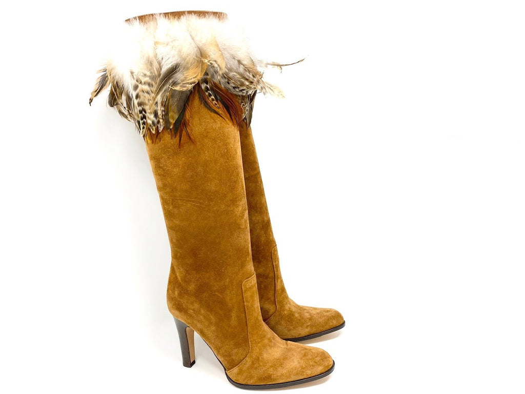 Michael Kors Suede with Feather Boots