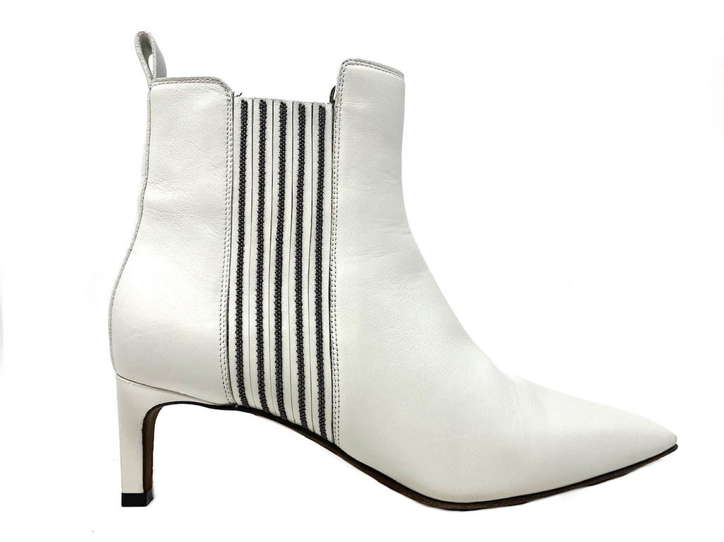 BRUNELLO CUCINELLI Monili-Trim White Booties