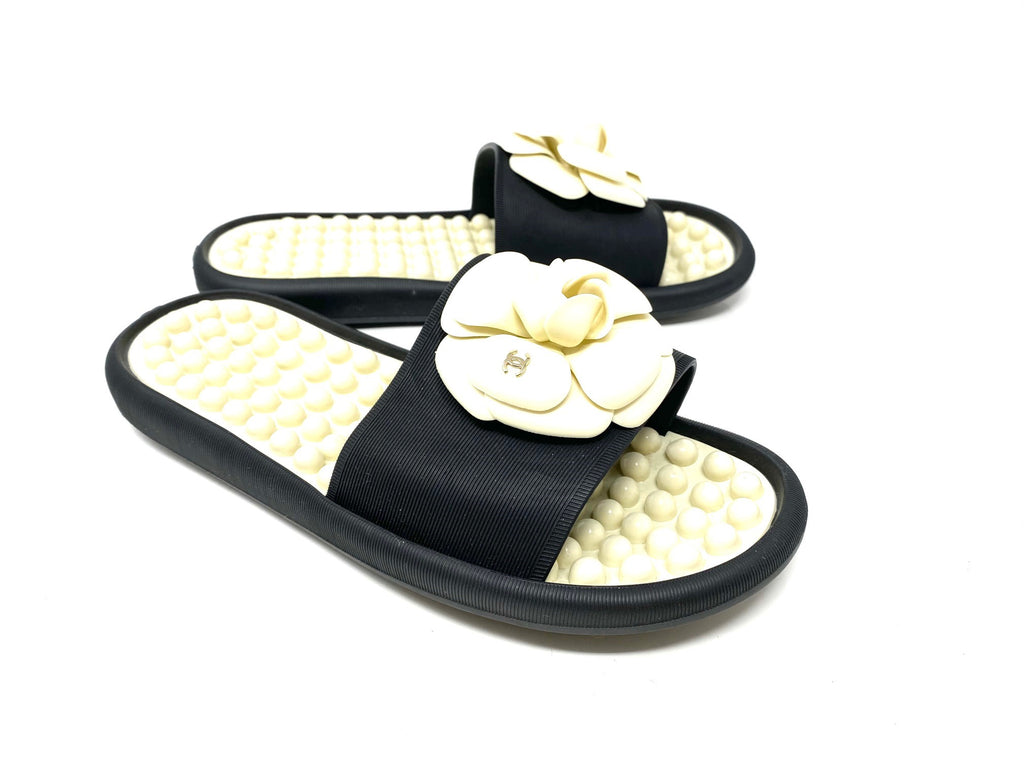 Chanel Camellia Pool Slides