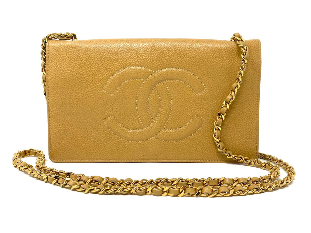 Chanel Vintage Caviar Leather Crossbody Wallet on Chain (WOC)