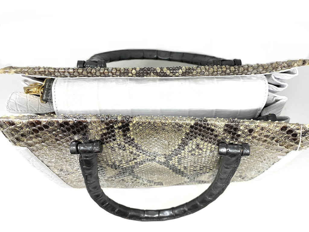 Nancy Gonzalez Crocodile and Python Crossbody Satchel