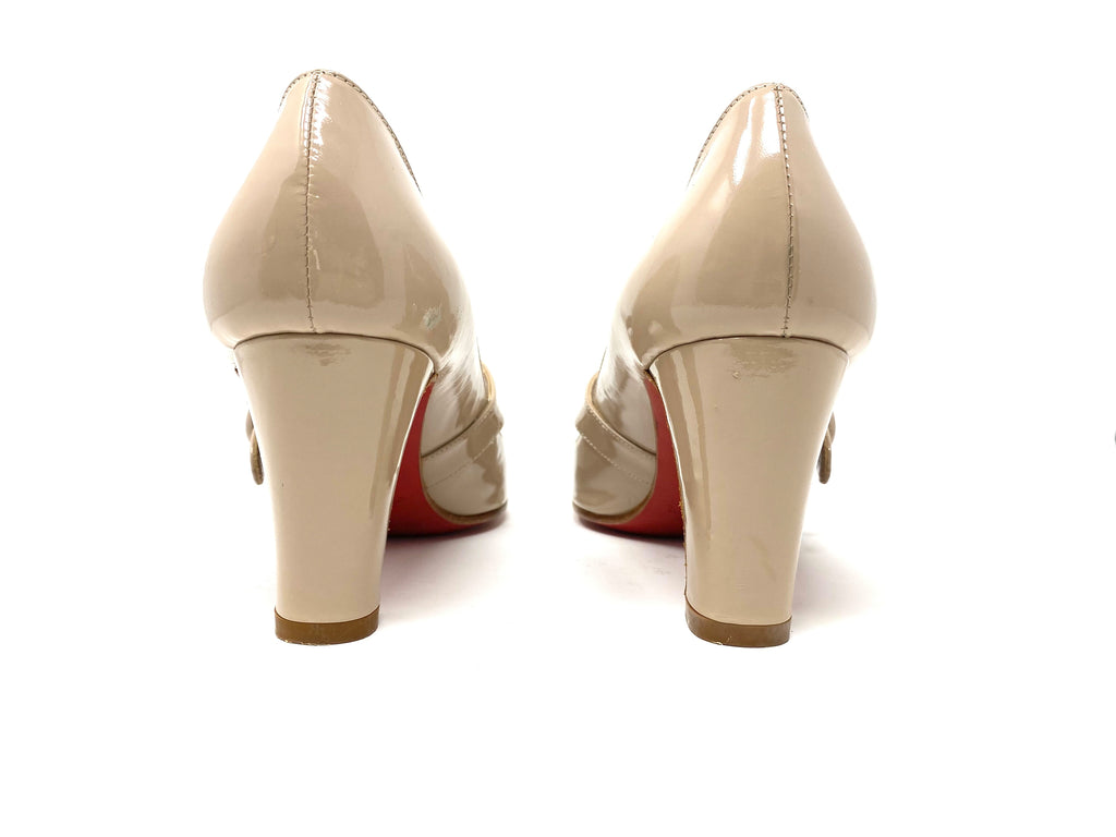 Christian Louboutin Nude Patent Mary Jane Pump