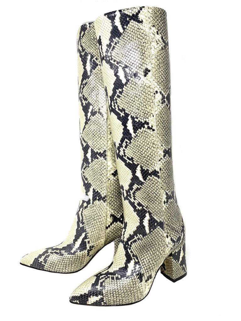 Paris Texas Leather Snake Embossed Boots