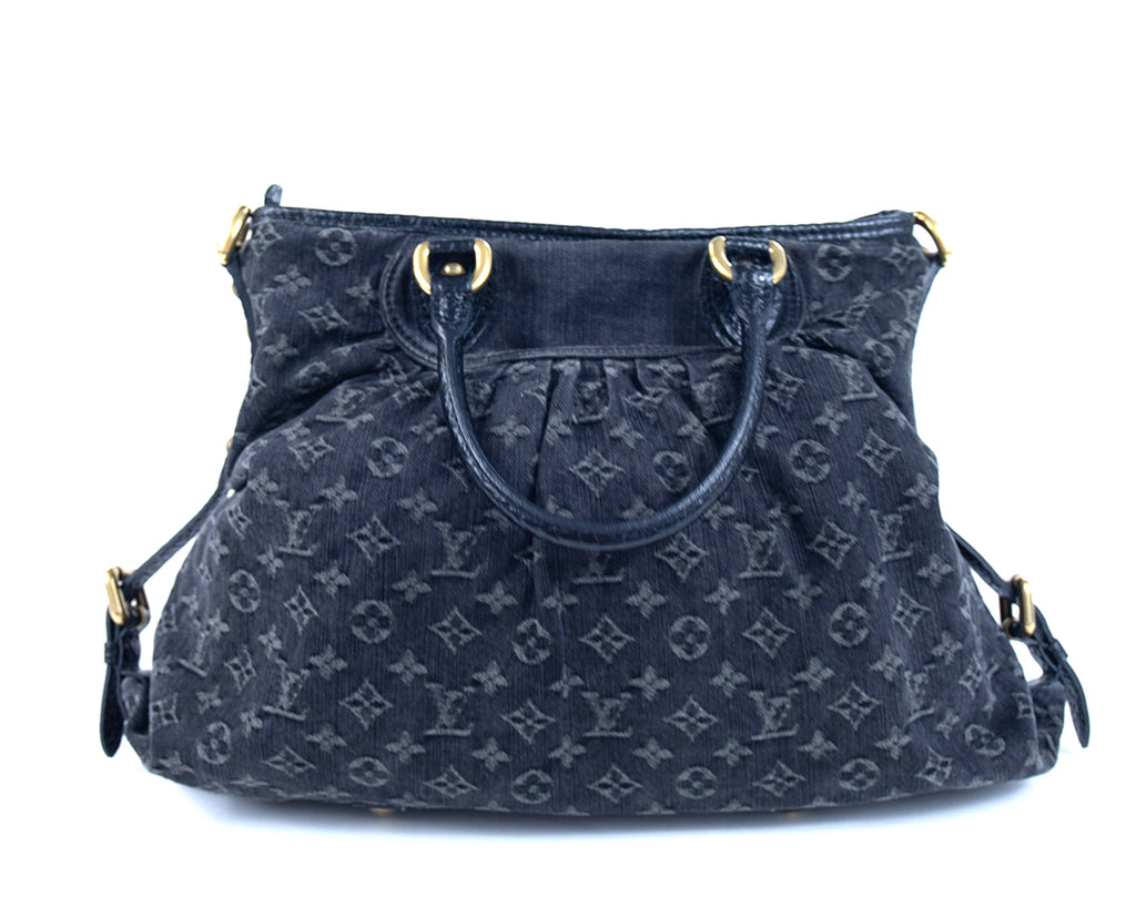 Louis Vuitton Neo Cabby GM Black Denim Tote