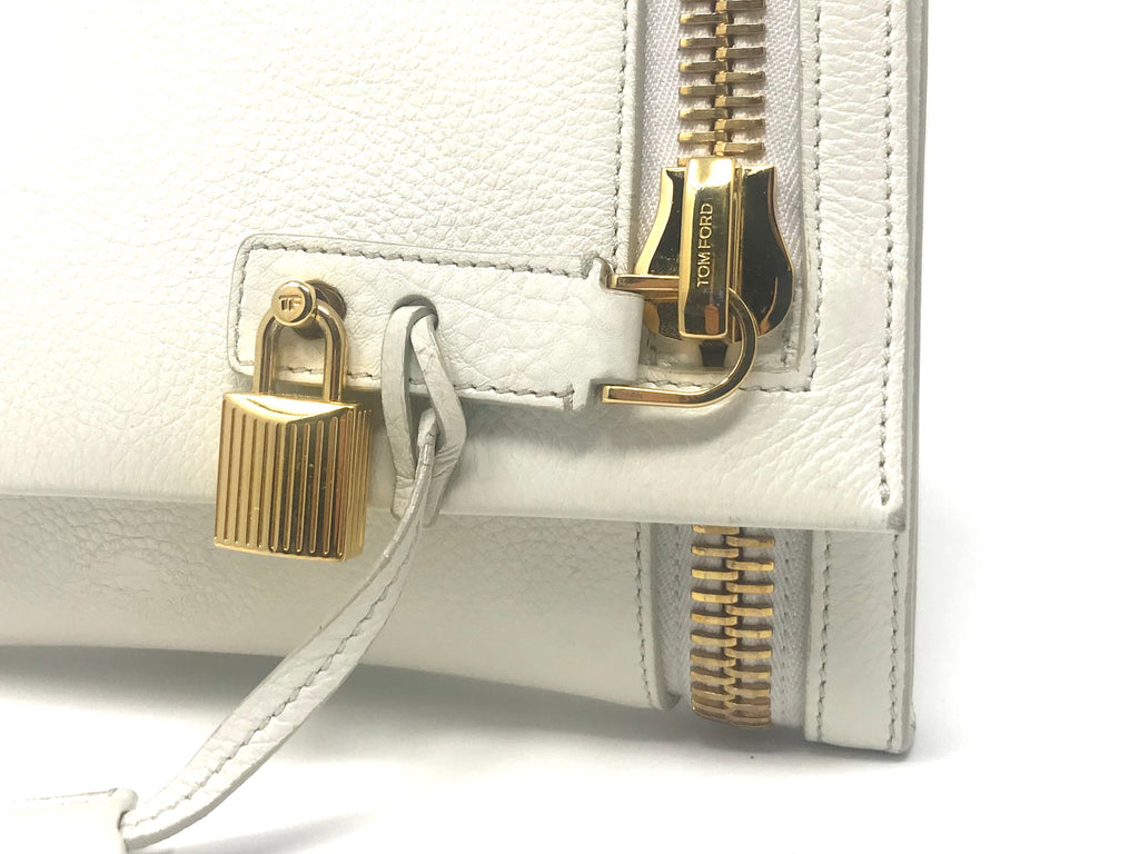 TOM FORD Gold Zipper Padlock Alix Clutch
