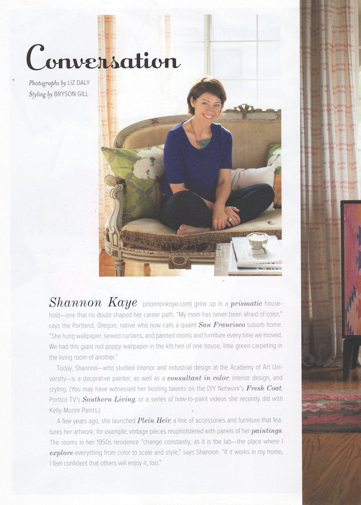 shannon kaye, anthology, anthology magazine, liz daly, bryson gill, color specialist, color expert, plein heir, floral pillows