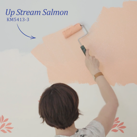 Shannon Kaye stencil design, custom stencil, color consulting, color expert, color style, colorist, color specialist, up stream salmon, upstream salmon, peach bedroom, stencil design, custom stencil, stencil artist