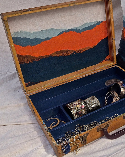 a Torn Landscape in Vintage Painters Box