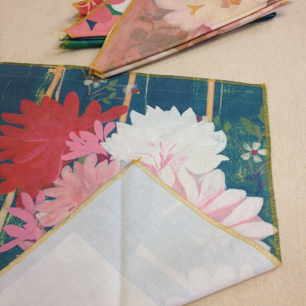 Set of Four Floral Napkins