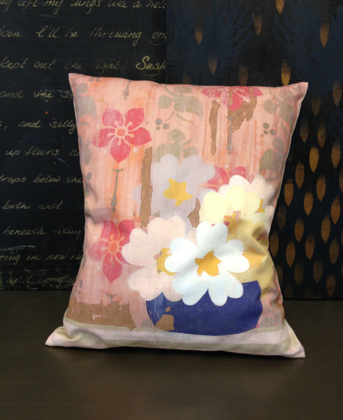 Pillow- Faded Wallpaper Floral Small