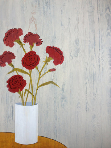 Red Carnations Original Art