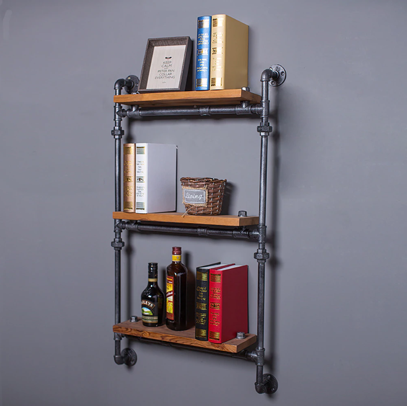 Famirosa Iron Pipe Hanging Bookshelf