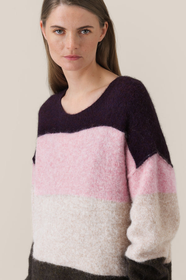Maville Knit Long O-Neck