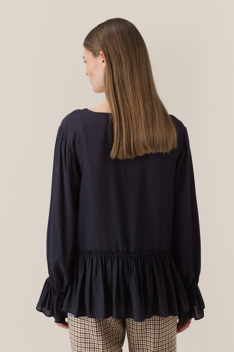 Florenza LS V Neck Blouse
