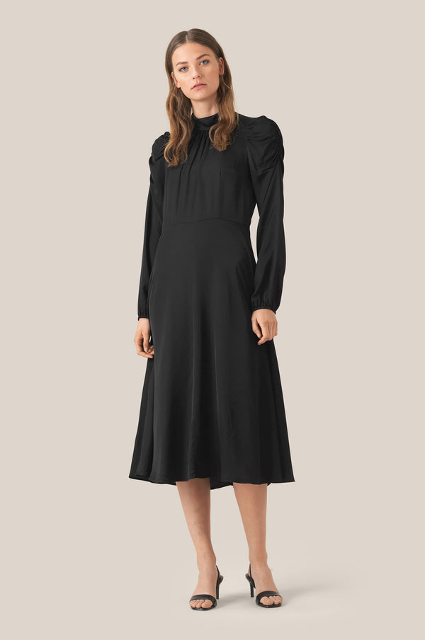 Claire LS T-Neck Midi Dress