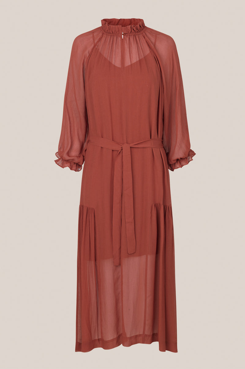 Tul SS Long Dress