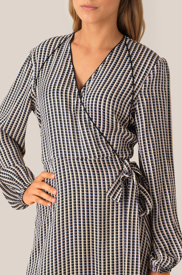 Ed LS Wrap Dress