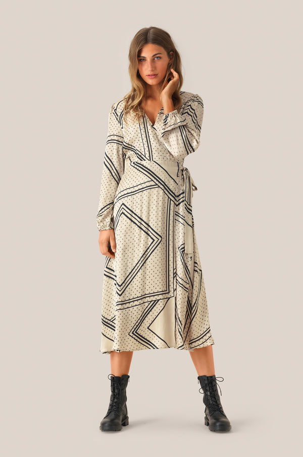 Isa LS Wrap Dress